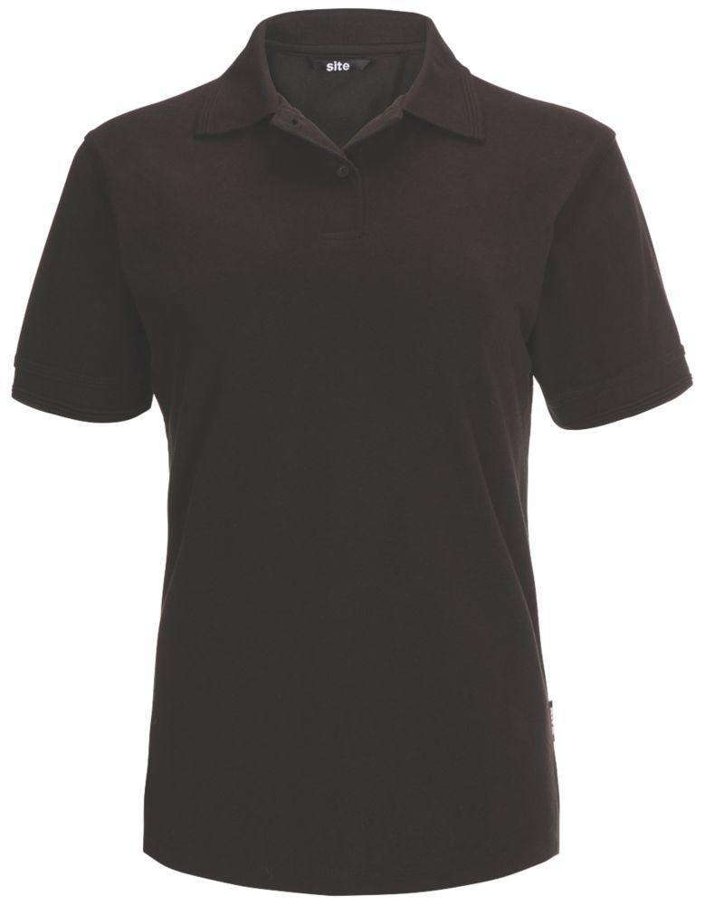 Polo pour femme Site Tanneron noir, taille8-10
