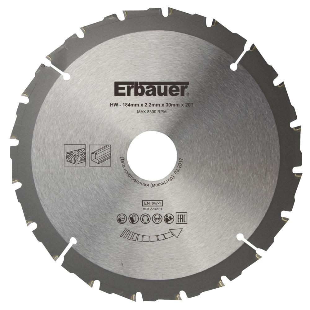 Lame de scie circulaire 20dents Erbauer 184 x 30mm