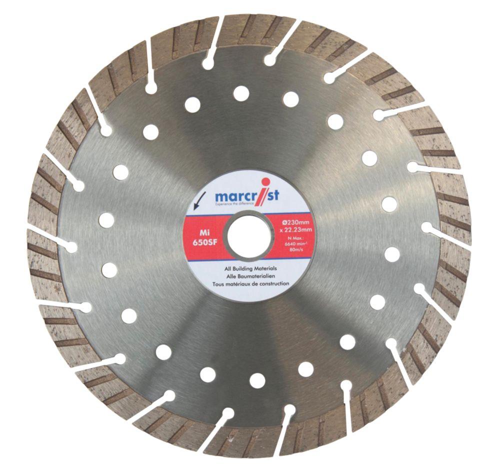 Disque diamant segmenté pour béton/pierre Marcrist 230 x 22,2mm