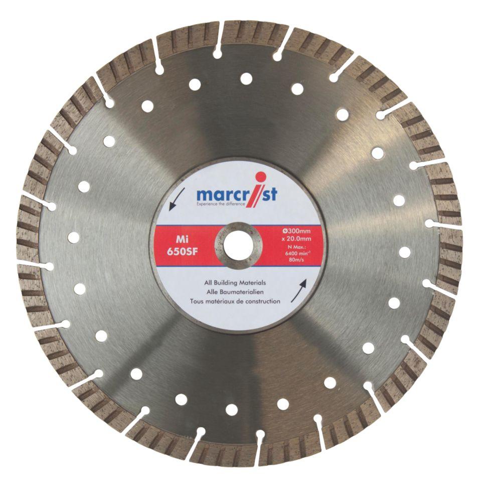 Disque diamant segmenté Turbo pour béton/pierre Marcrist 300 x 20mm