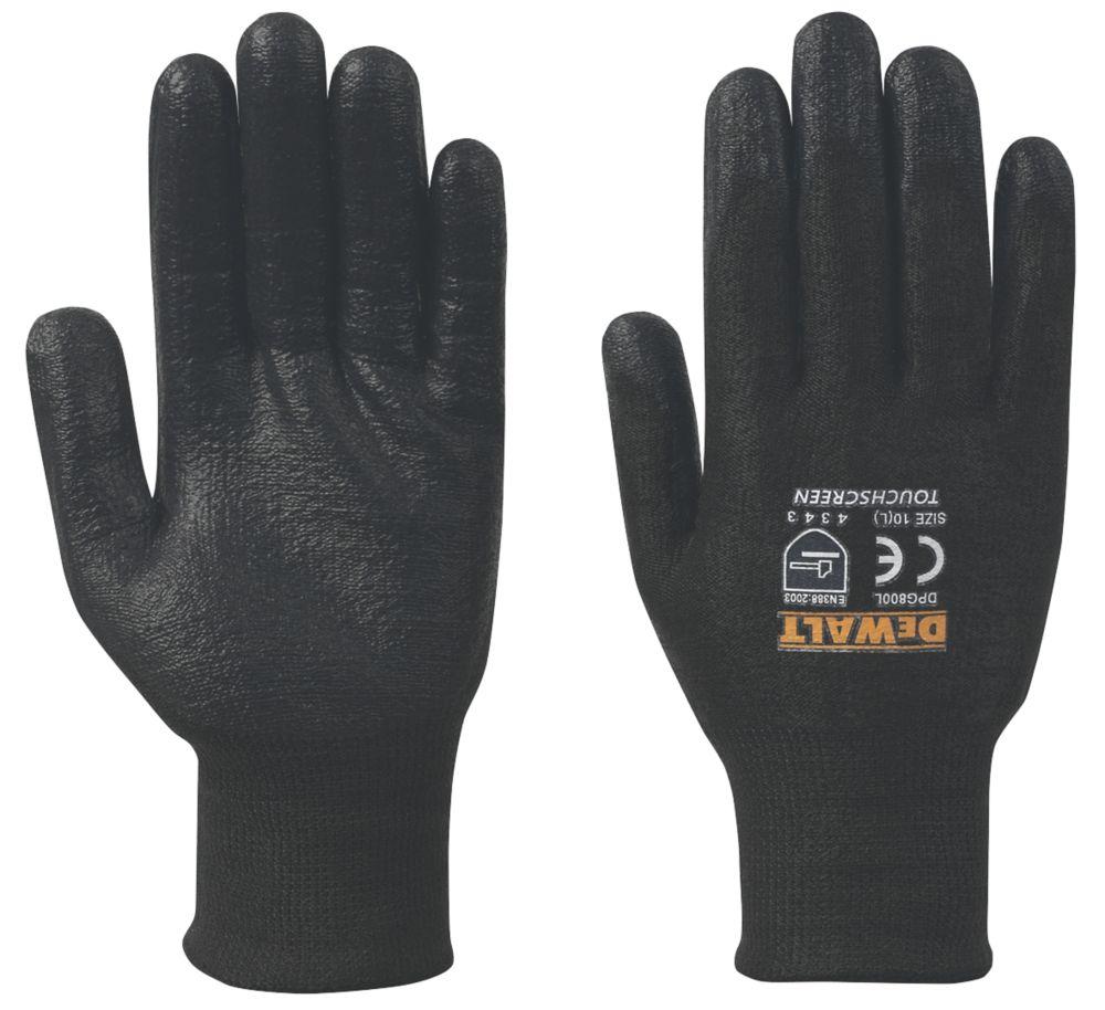 Gants pour écrans tactile DeWalt DPG800L EU noirs tailleL