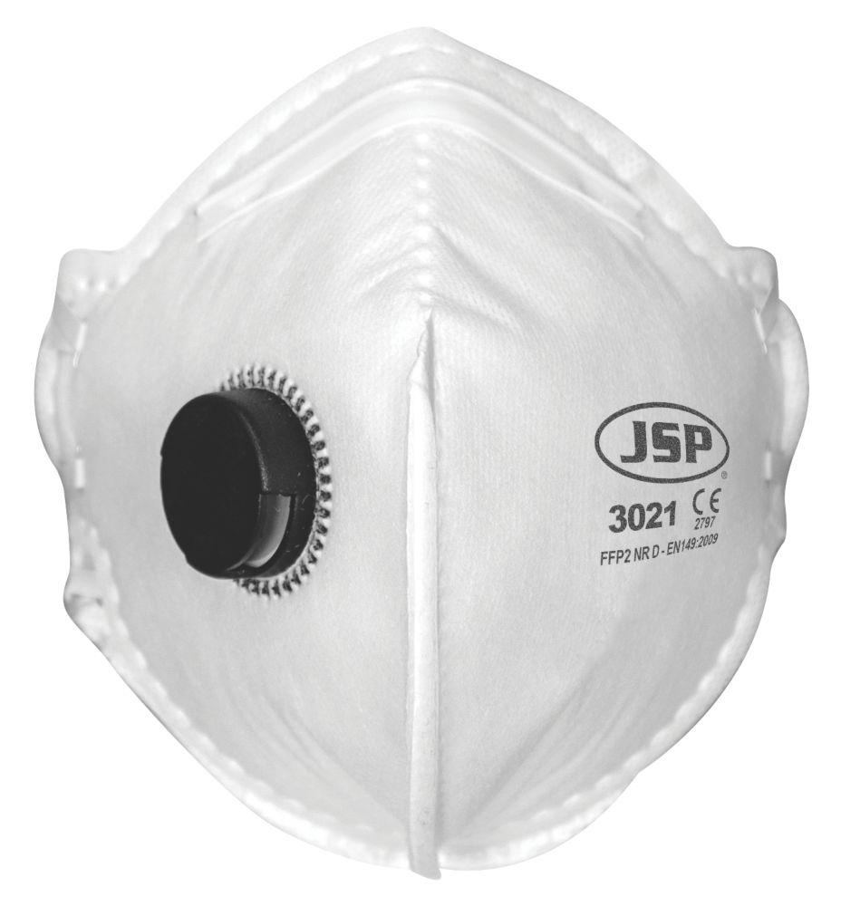 Masques à soupape pliables à plat P2 JSP, lot de 2
