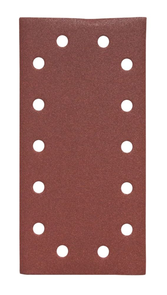 Lot de 5feuilles abrasives perforées Flexovit Orbital ½ 230 x 115mm grain120