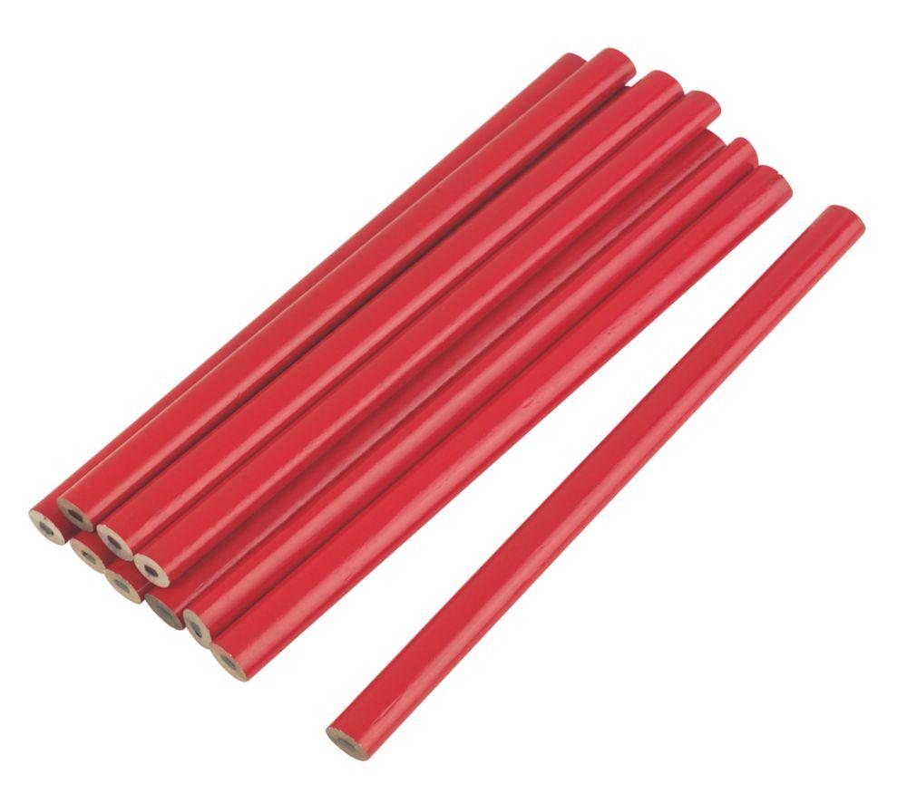 10crayons de charpentier HB 175mm