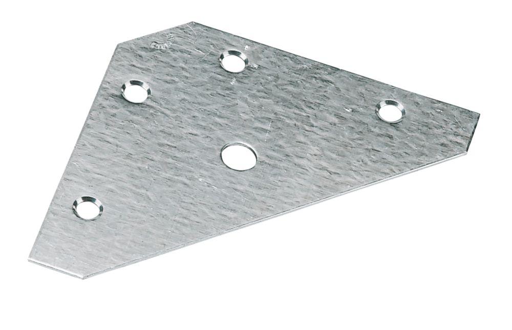 10plaques triangulaires zinguées 83 x0,9 x83mm