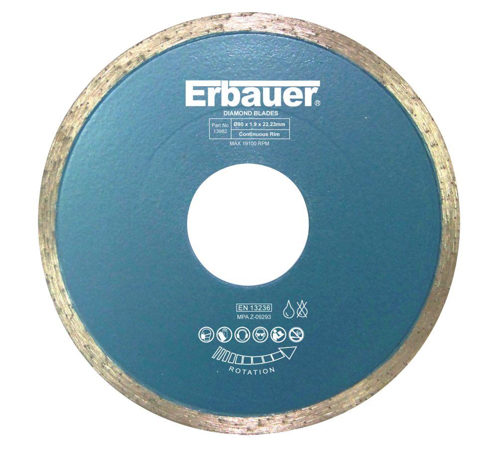 Disque diamant pour carrelage Erbauer 80 x 22,23mm