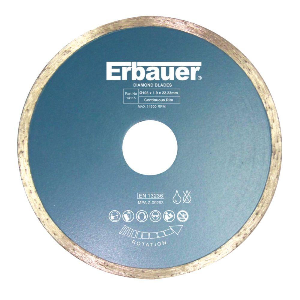 Disque diamant pour carrelage Erbauer 105 x 22,23mm