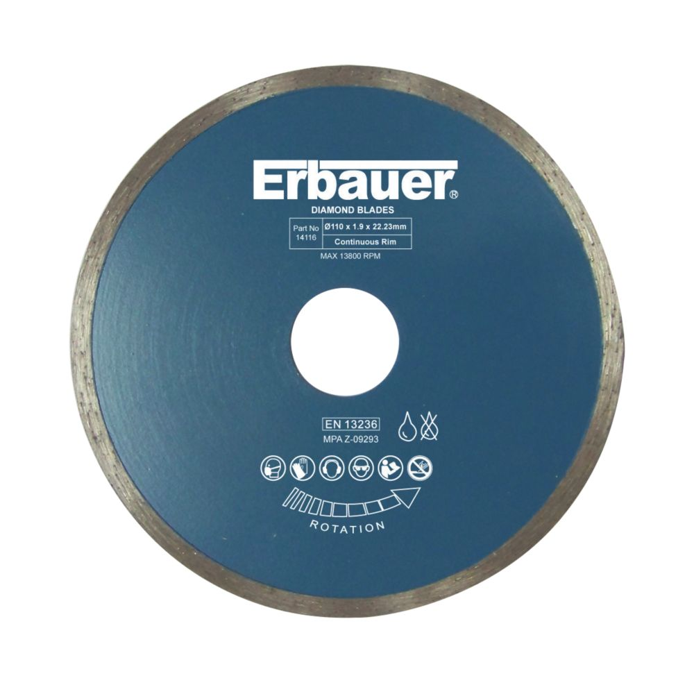 Disque diamant pour carrelage Erbauer 110 x 22,23mm