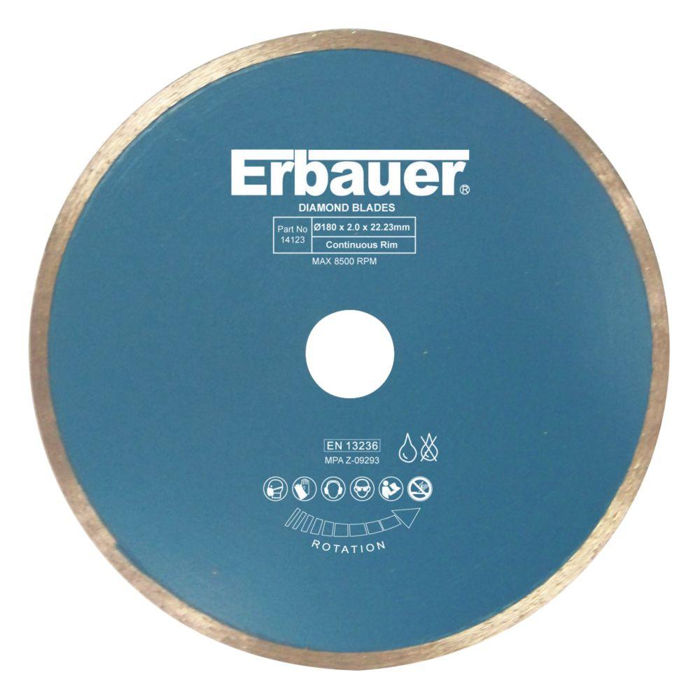 Disque diamant pour carrelage Erbauer 180 x 22,23mm