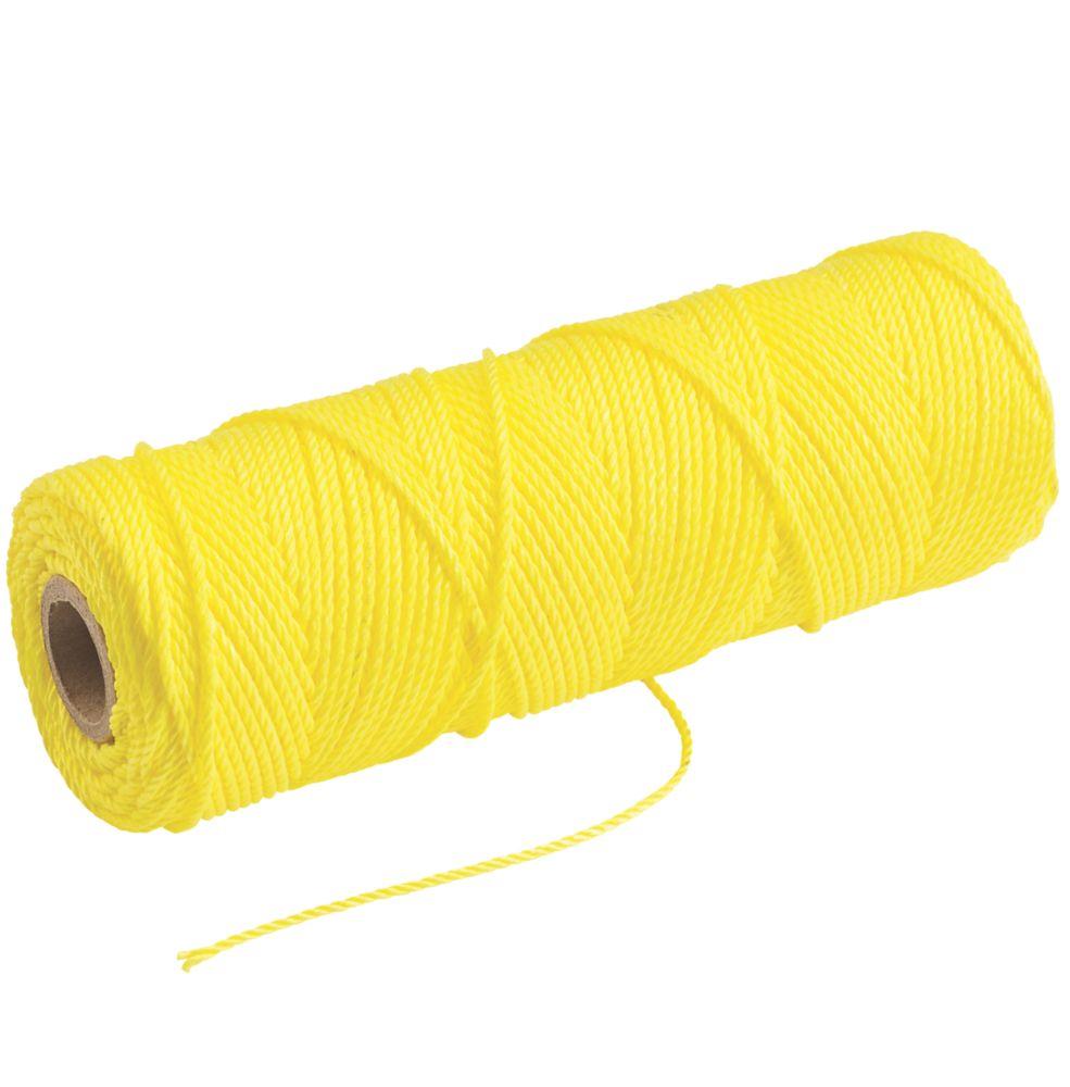 Cordeau de maçon haute visibilité Tayler Tools jaune 105m
