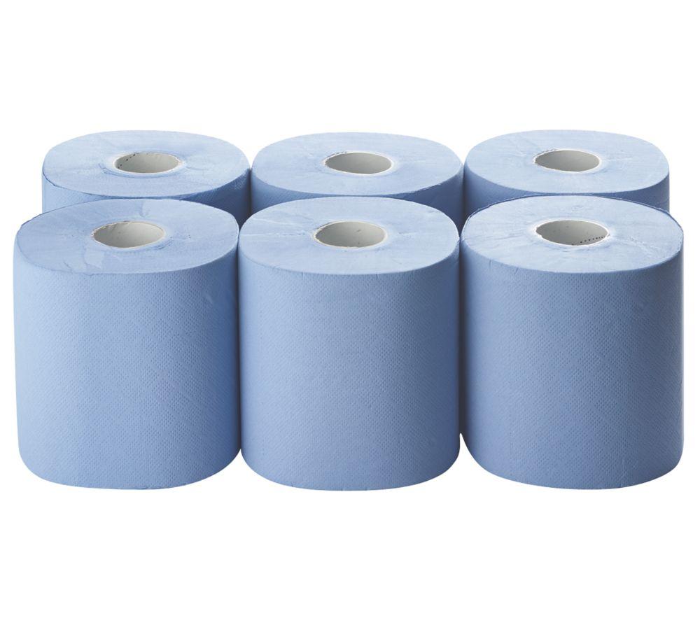 6rouleaux de papier bleu 2épaisseurs 185x 150m