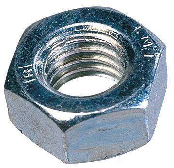 1000écrous hexagonaux en acier zingué brillant Easyfix M6