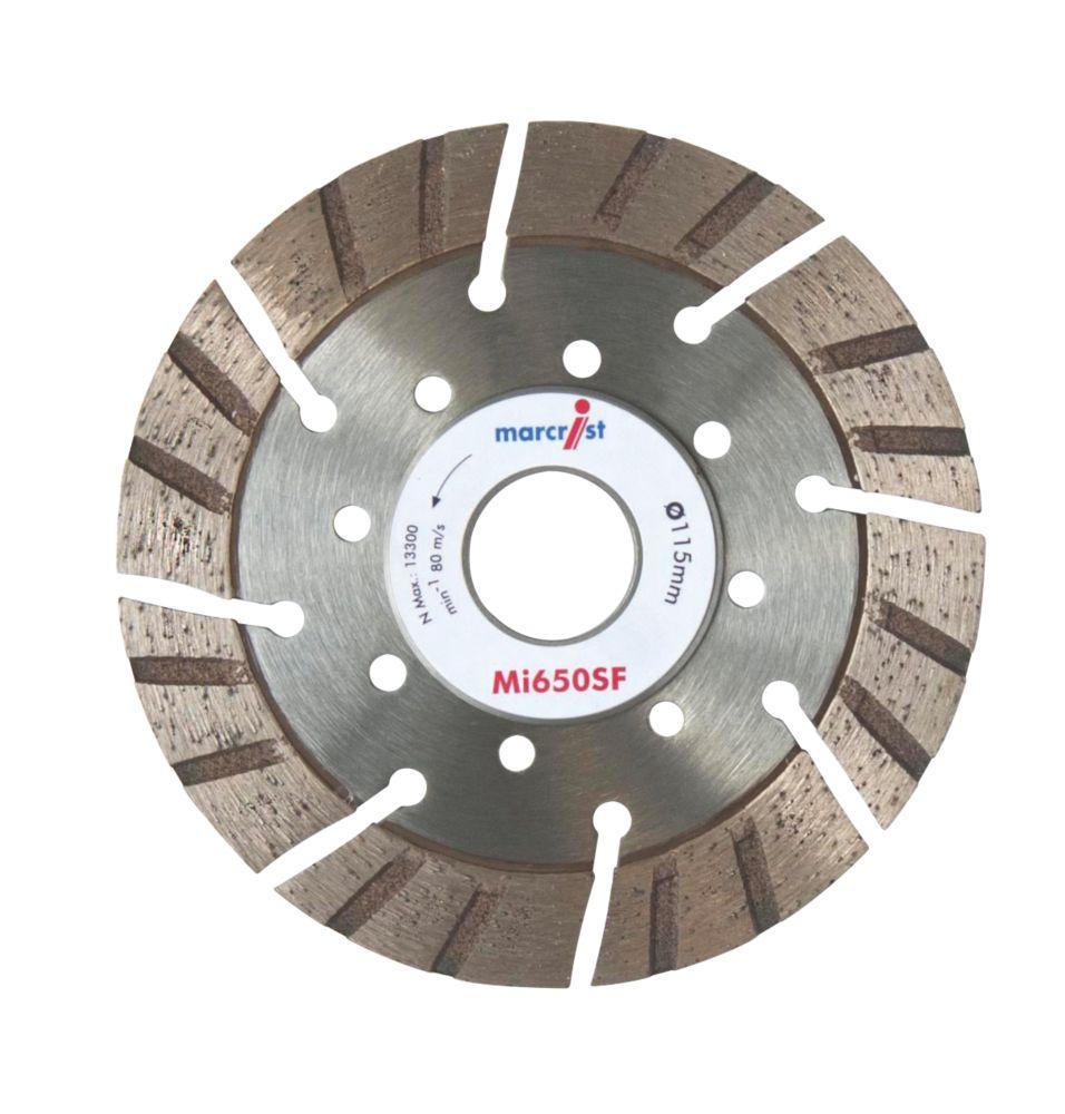 Disque diamant segmenté multi-matériaux Marcrist 115 x 22,2mm