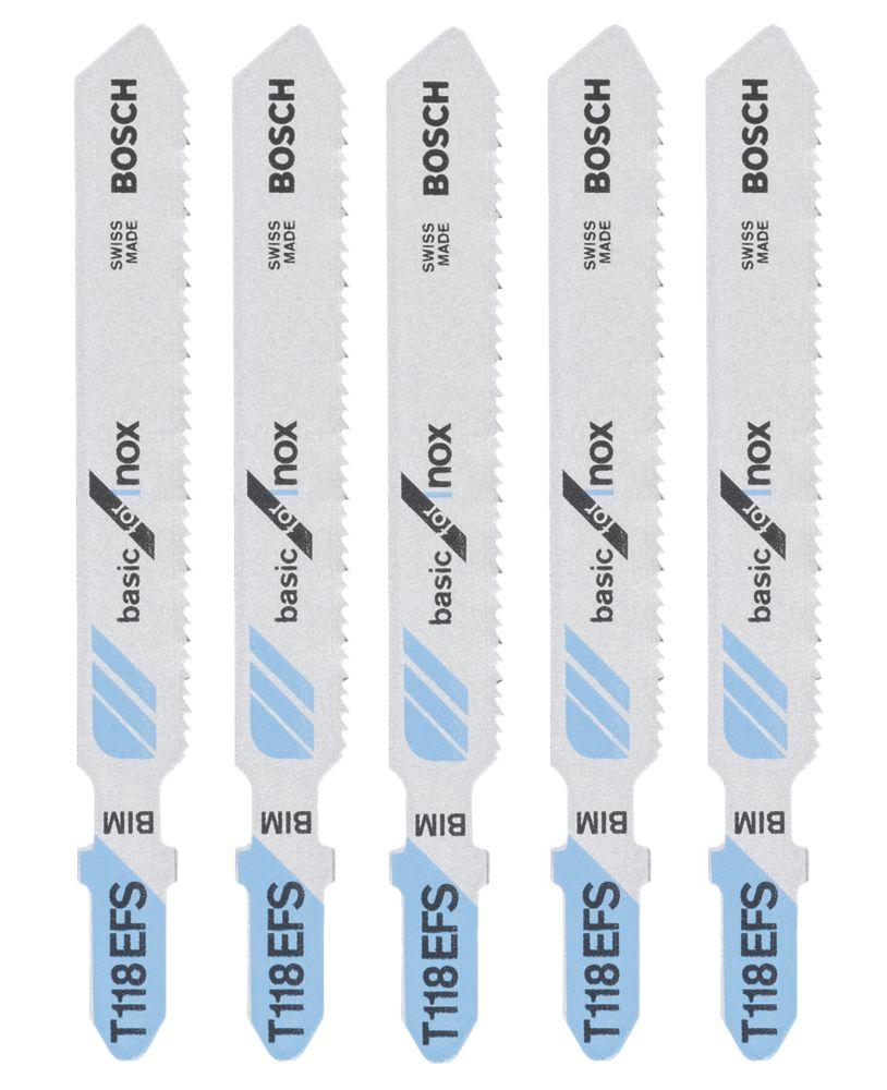 Lot de 5lames de scie sauteuse Bosch T118EFS 83mm