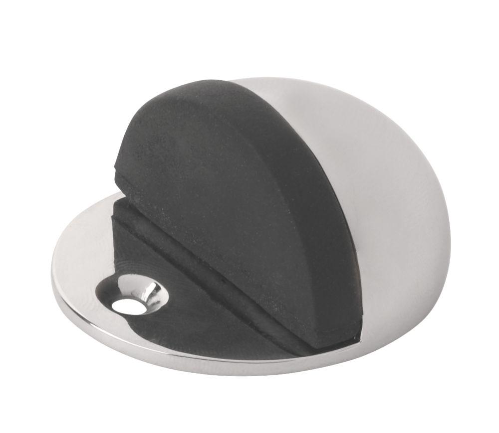 2butées de porte ovales chrome poli