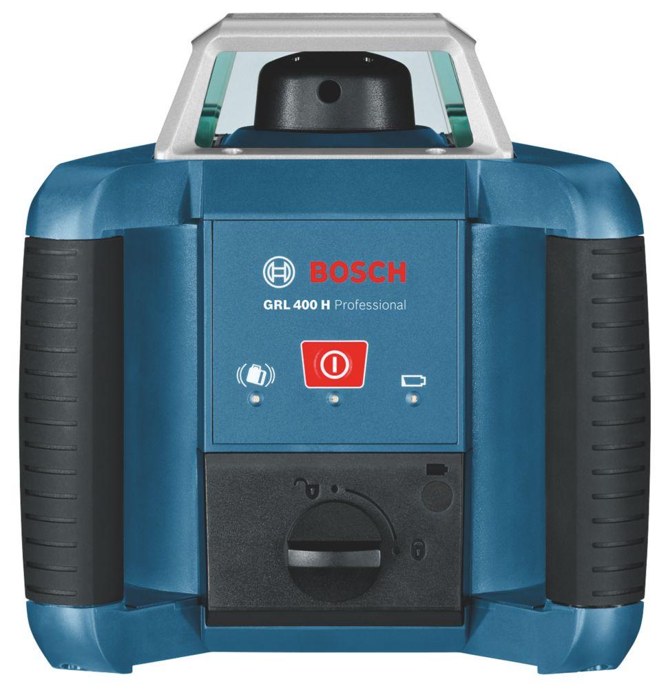 Niveau laser rotatif à mise à niveau automatique rouge GRL400 Bosch avec récepteur