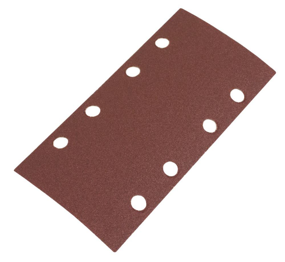 Lot de 6feuilles abrasives perforées Flexovit ⅓ 185 x 93mm grain120