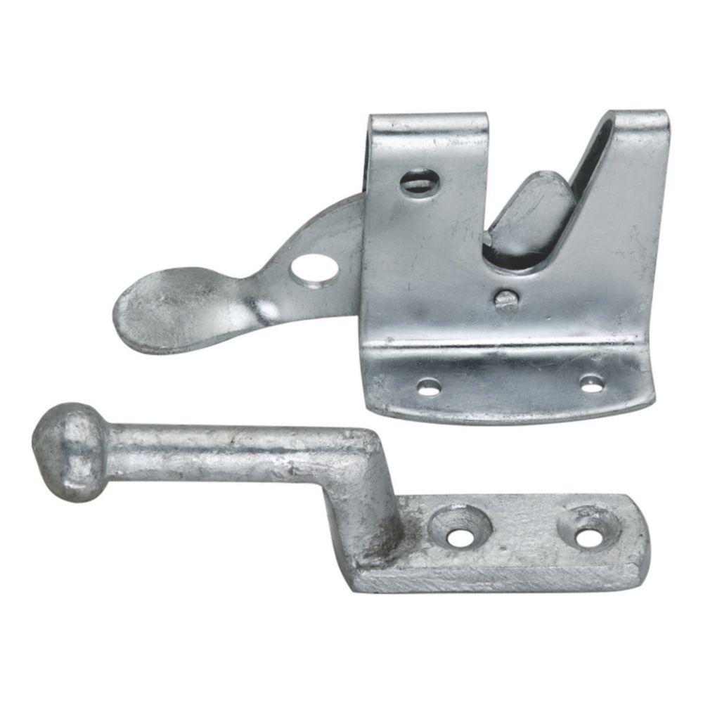 Loquet de portail auto robuste Smith & Locke galvanisé 120mm