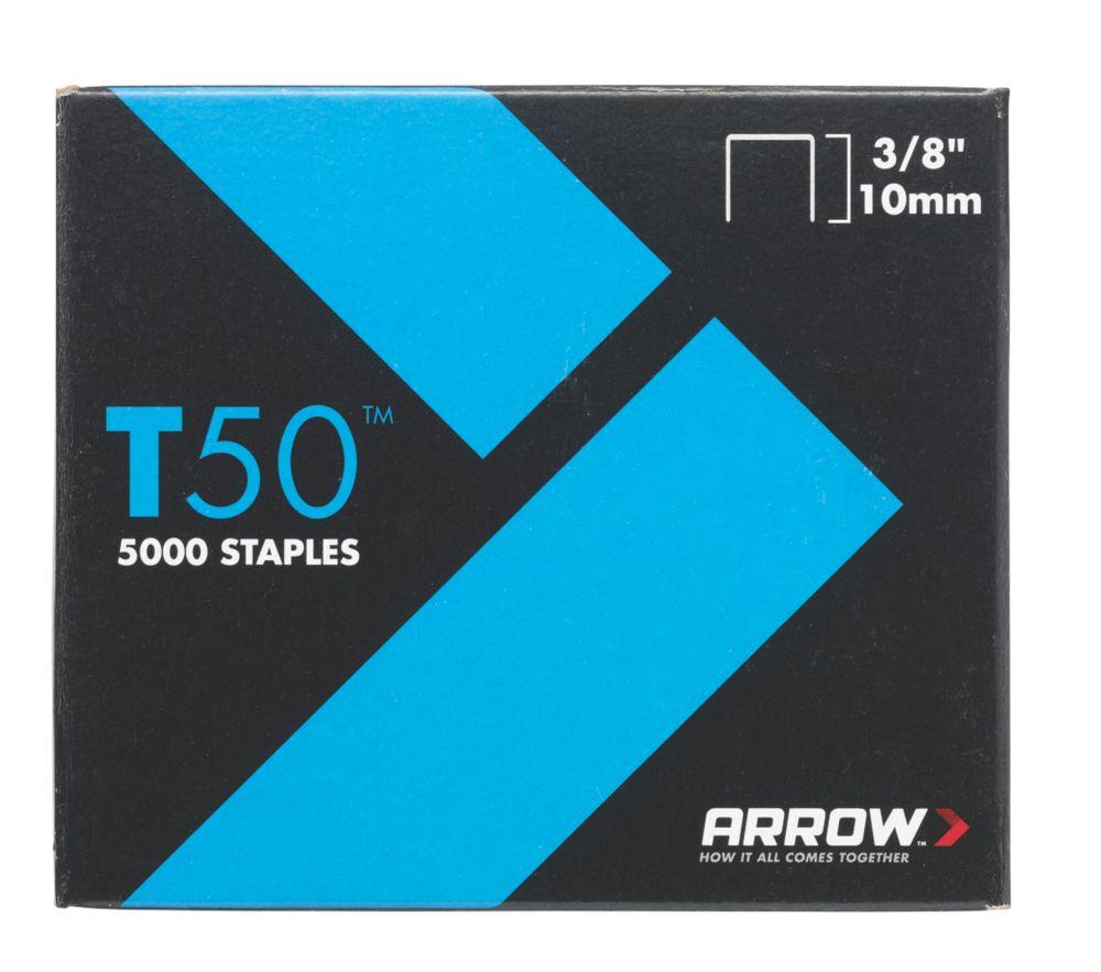 5000agrafes à usage intensif galvanisées Arrow8 x10mm