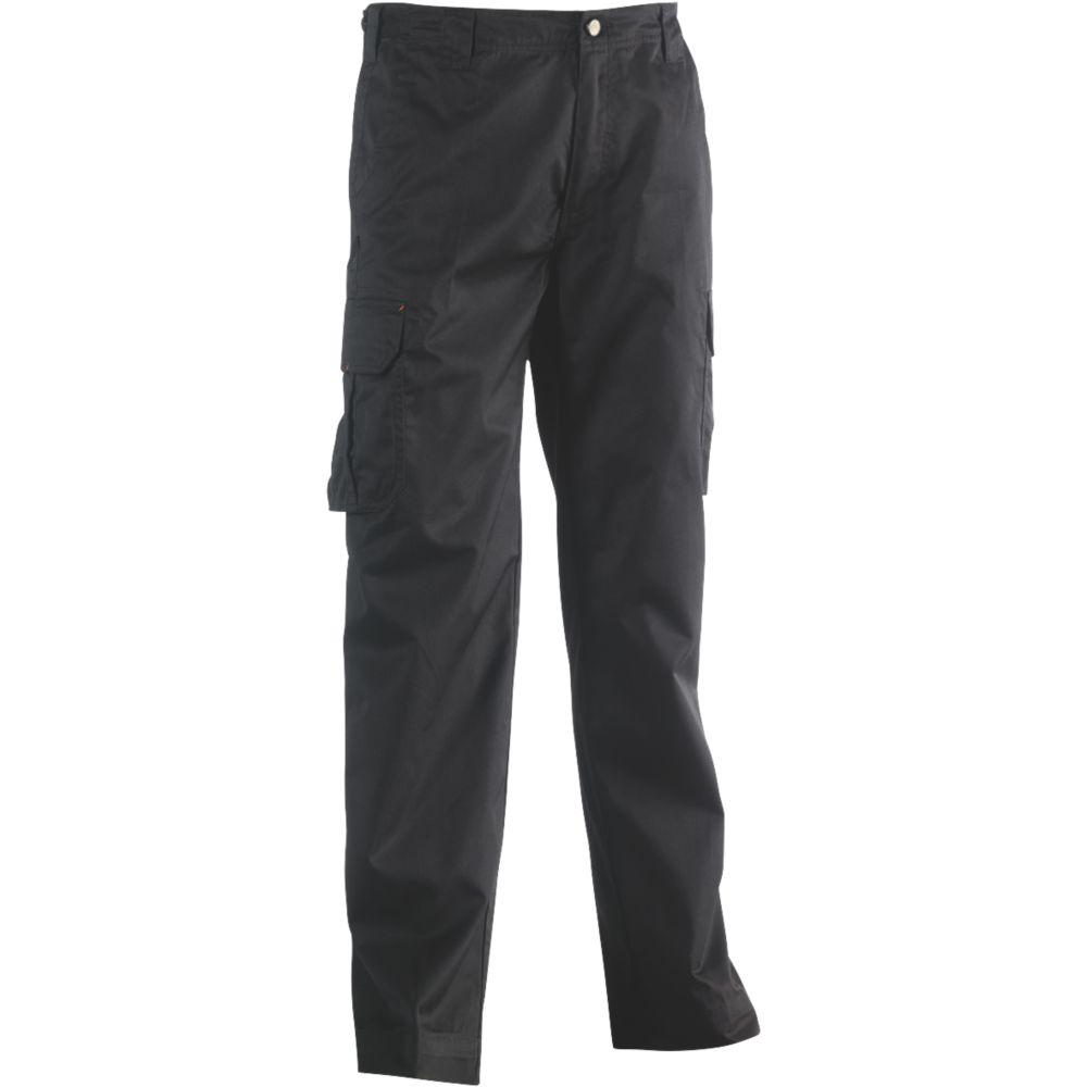 """Pantalon de travail Herock Thor noir, tour de taille 32"""" et longueur de jambe 32/34"""""""