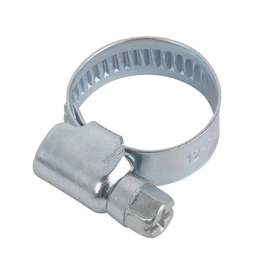 10colliers de serrage zingués bleus Easyfix 12-20mm
