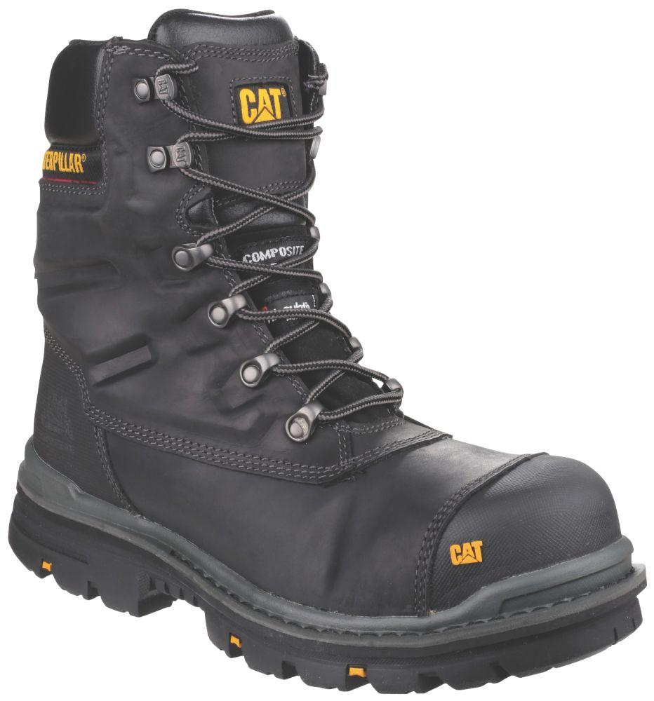 Chaussures de sécurité montantes sans métal CAT Premier noires taille 42