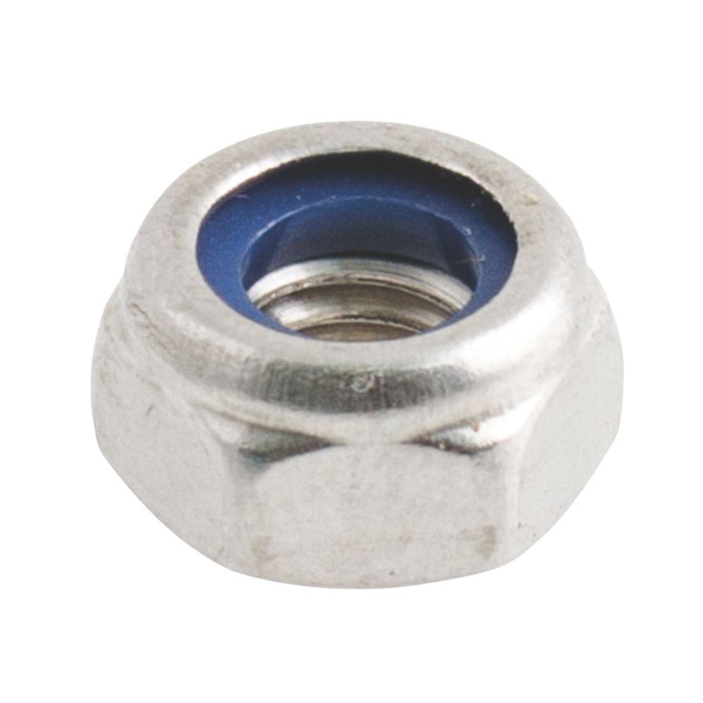 100contre-écrous en nylon et acier inoxydable A2 Easyfix M4