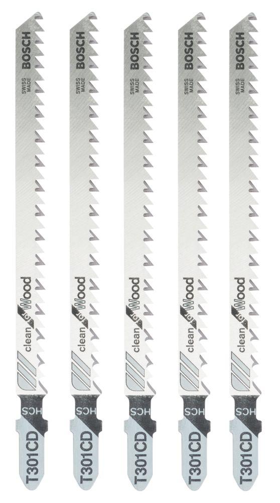 Lot de 5lames de scie sauteuse Bosch T301CD 117mm