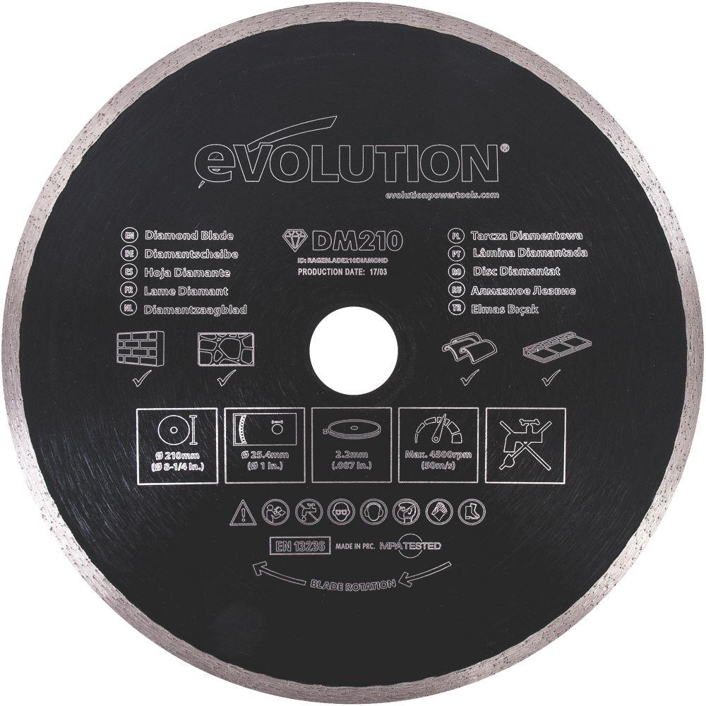 Disque diamant pour maçonnerie/pierre Evolution 210 x 25,4mm