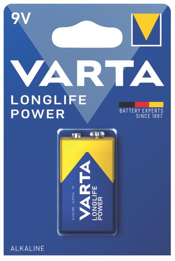 Pile 9V puissante et longue durée Varta