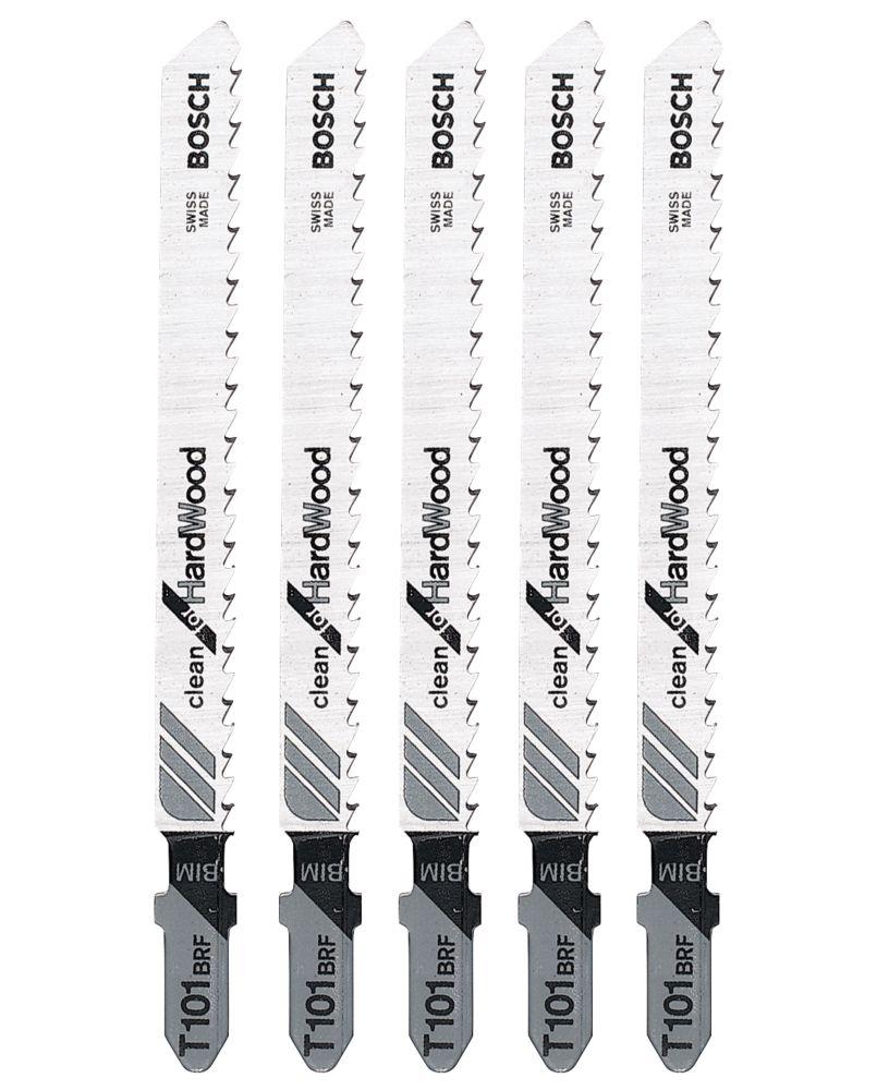 Lot de 5lames à baïonnette pour scie sauteuse multi-usage Bosch T101BRF 100mm