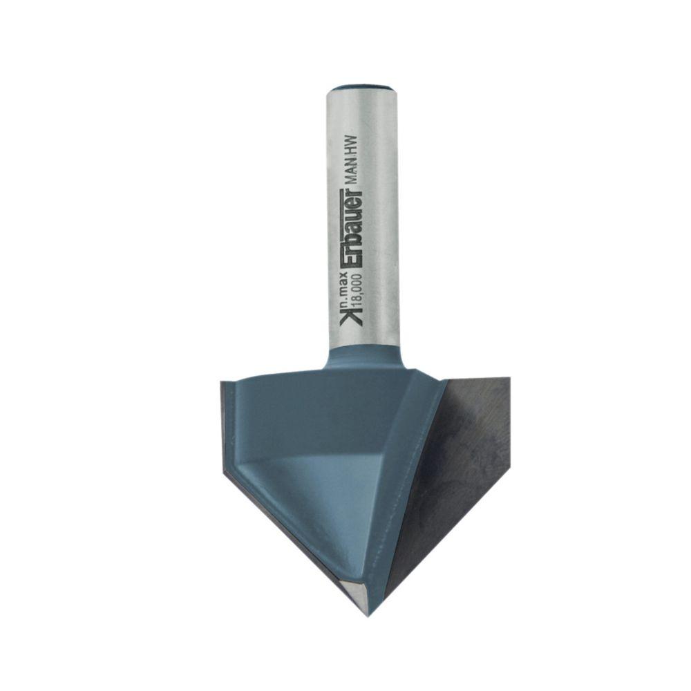 Fraise de défonceuse à chanfreiner en V ø 31.8 x l. 8 mm, 90°