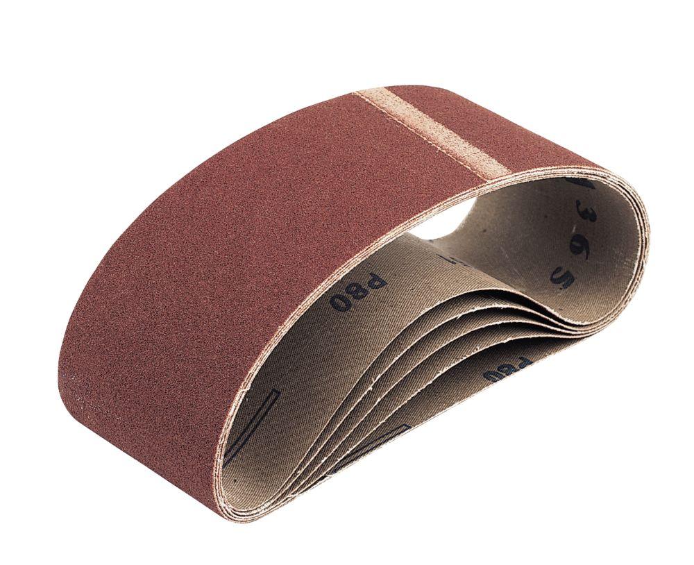 Bandes de ponçage en tissu non perforées grain80 533 x 75mm, lot de 5