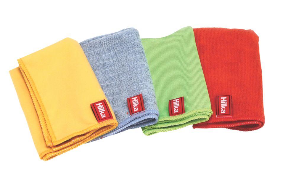 Lot de 4chiffons en microfibre polyester et nylon Hilka Pro-Craft