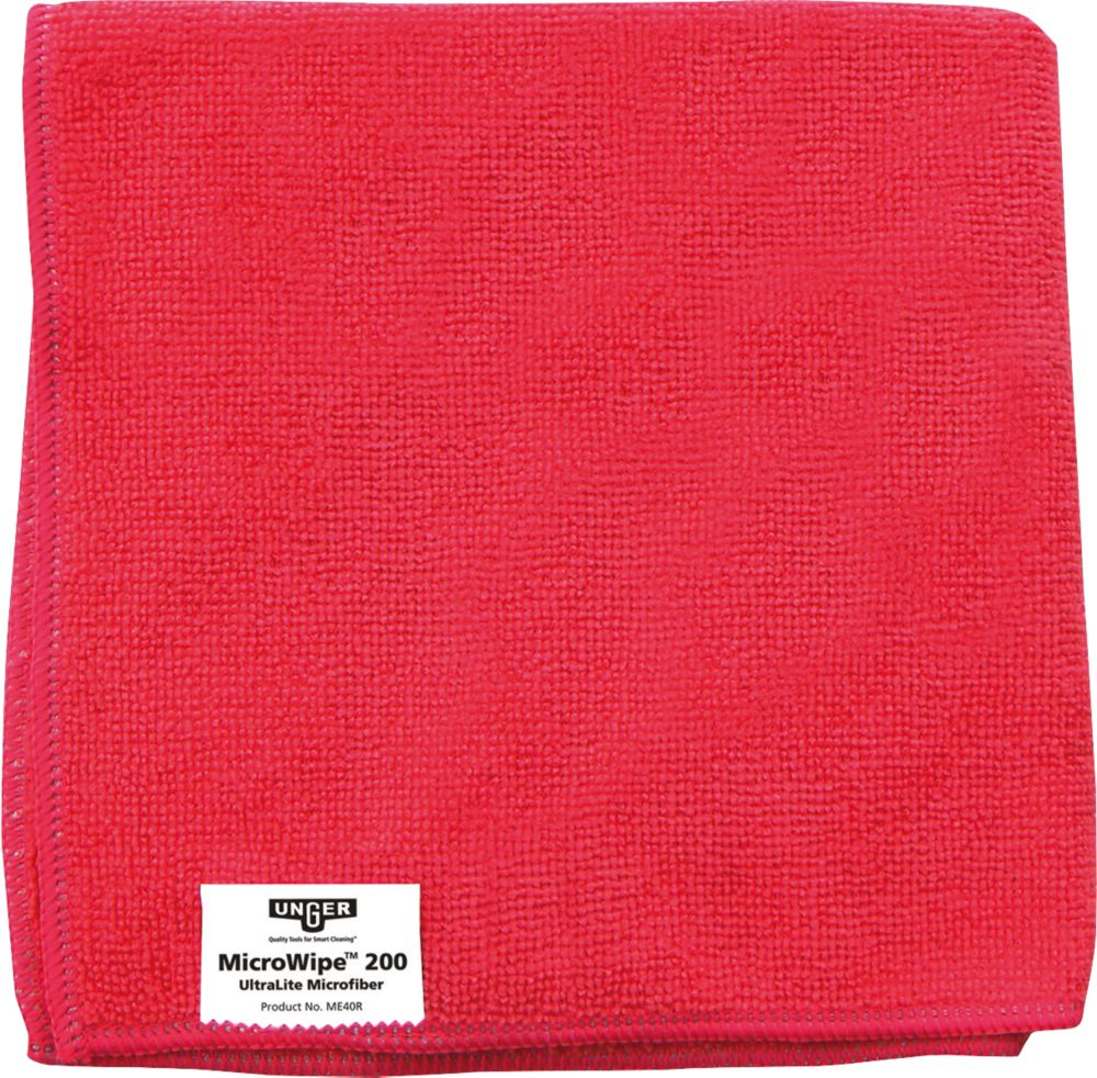 10chiffons en microfibre Unger rouges 400x 400mm