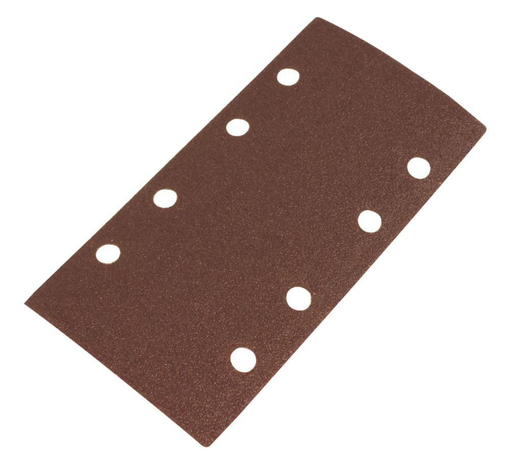 Lot de 6feuilles abrasives perforées Flexovit ⅓ 185 x 93mm grain80