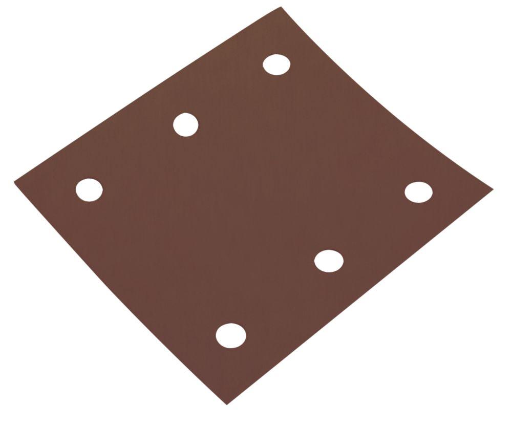 Lot de 6feuilles abrasives perforées à grain assorti Flexovit ¼ 114 x 102mm