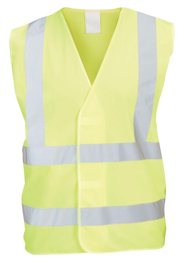 """Gilet haute visibilité jaune tailleXXL / XXXL, tour de poitrine 51¾"""""""