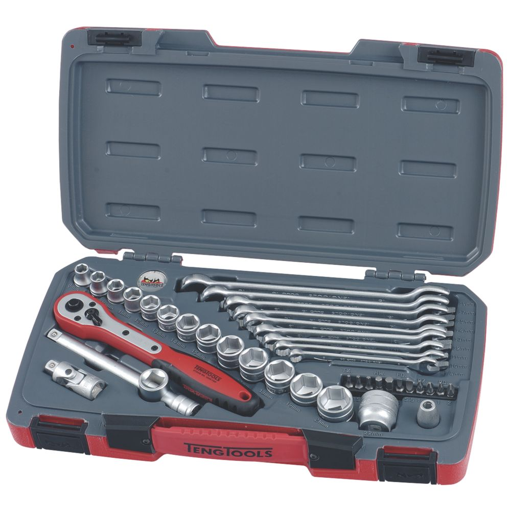 """Assortiment de 39clés de serrage et douilles 3/8"""" Teng Tools"""