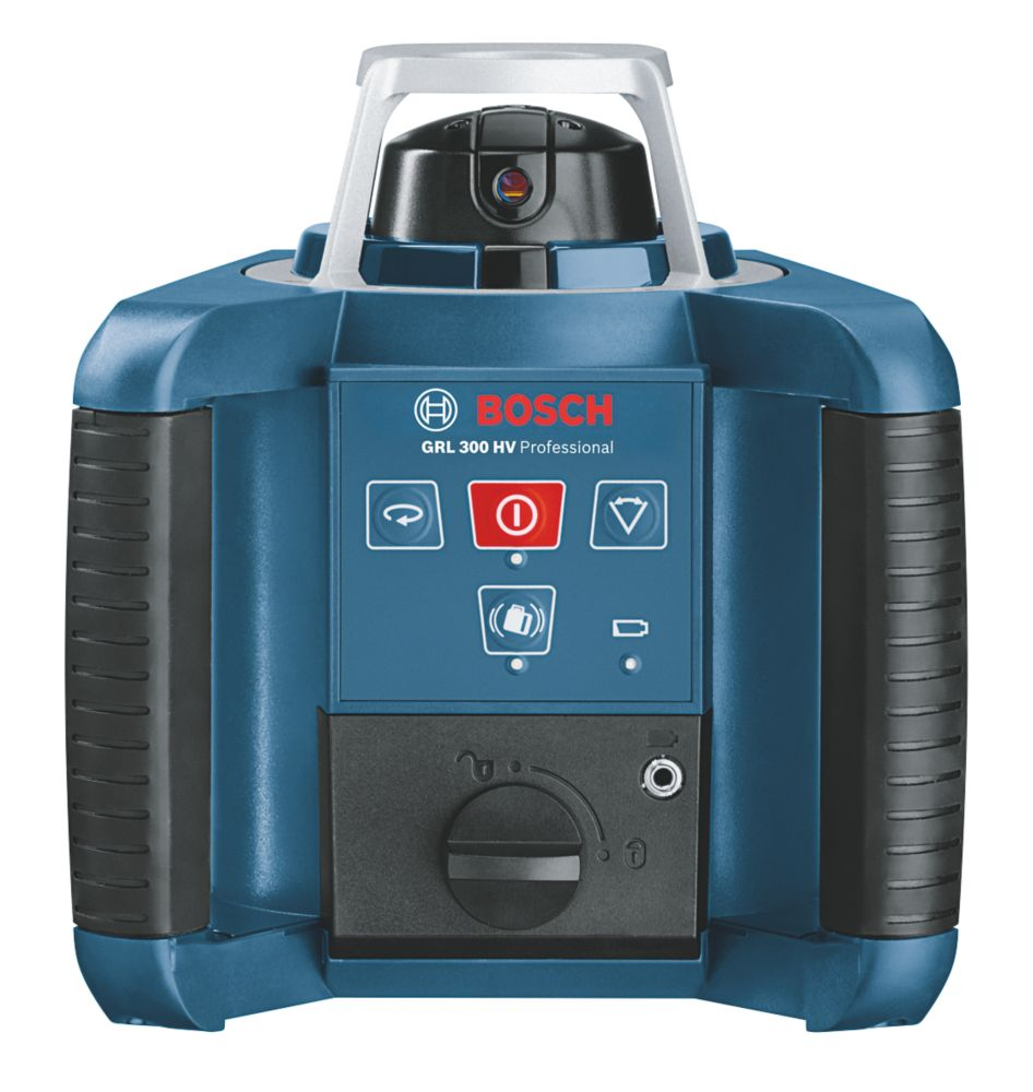 Niveau laser rotatif à mise à niveau automatique rouge GRL300HV Bosch avec récepteur