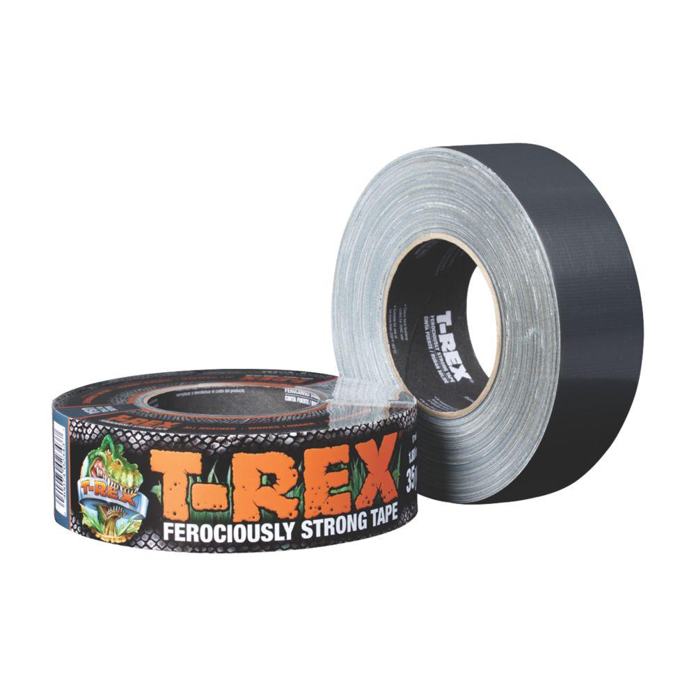 Ruban adhésif toilé extrêmement résistant T-Rex gris graphite 32m x48mm