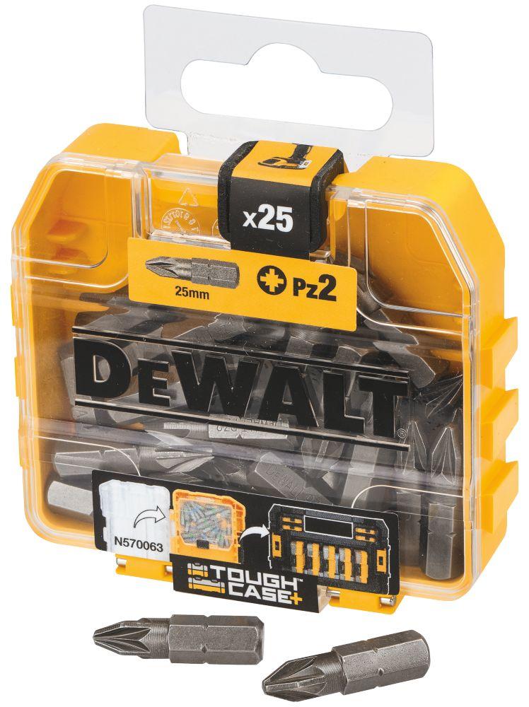 Coffret d'embouts de visseuse PZ DeWalt PZ2 x 25mm, lot de 25
