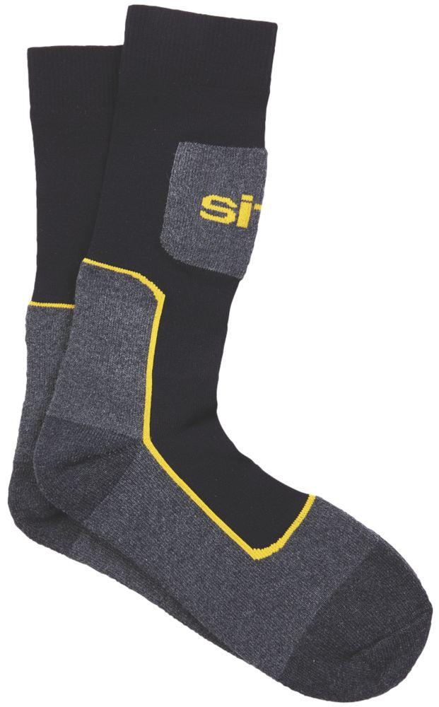 Chaussettes de travail Site Comfort noires / grises taille 41-46