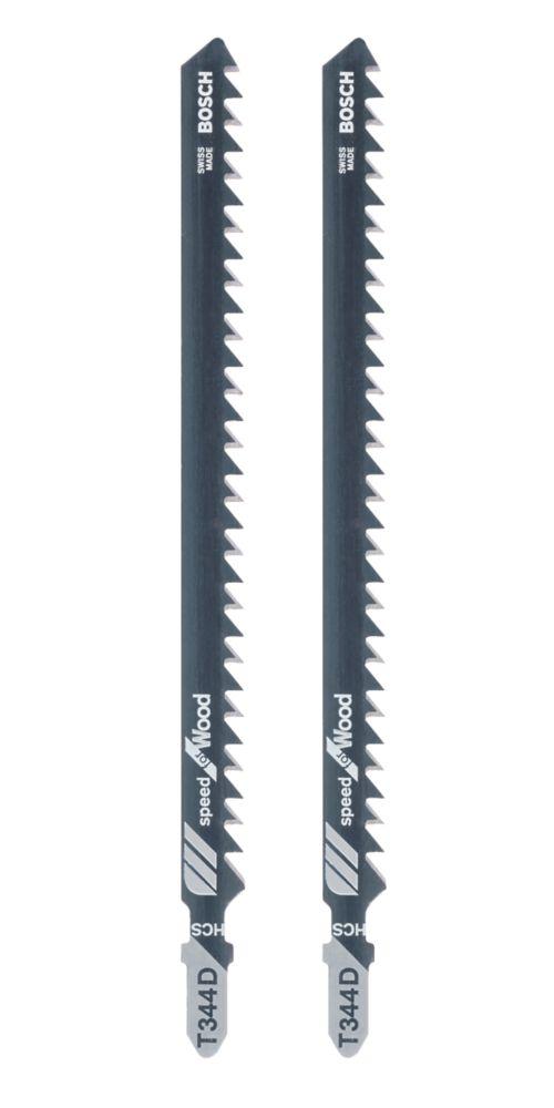 Lot de 2lames de scie sauteuse Bosch T344D 152mm