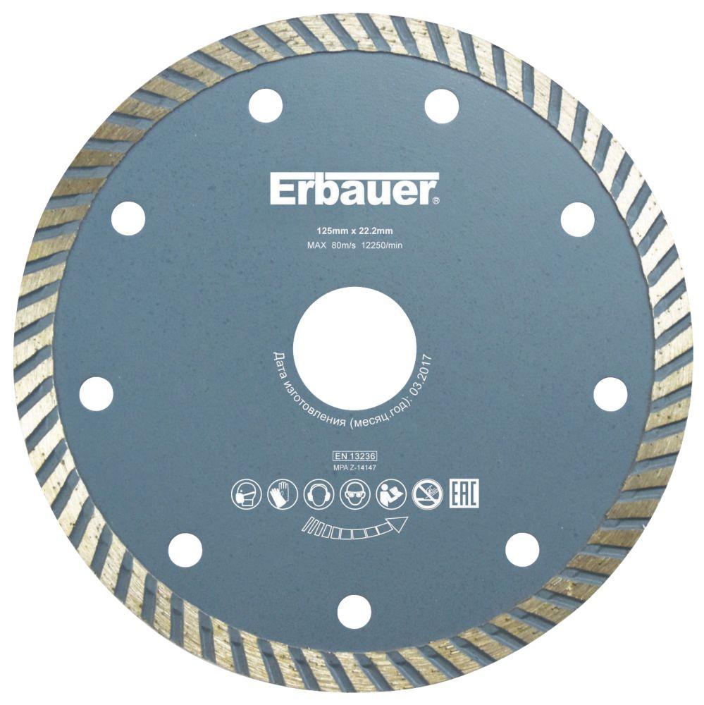 Disque de coupe diamant pour maçonnerie/carrelage Erbauer 125 x 22,23mm