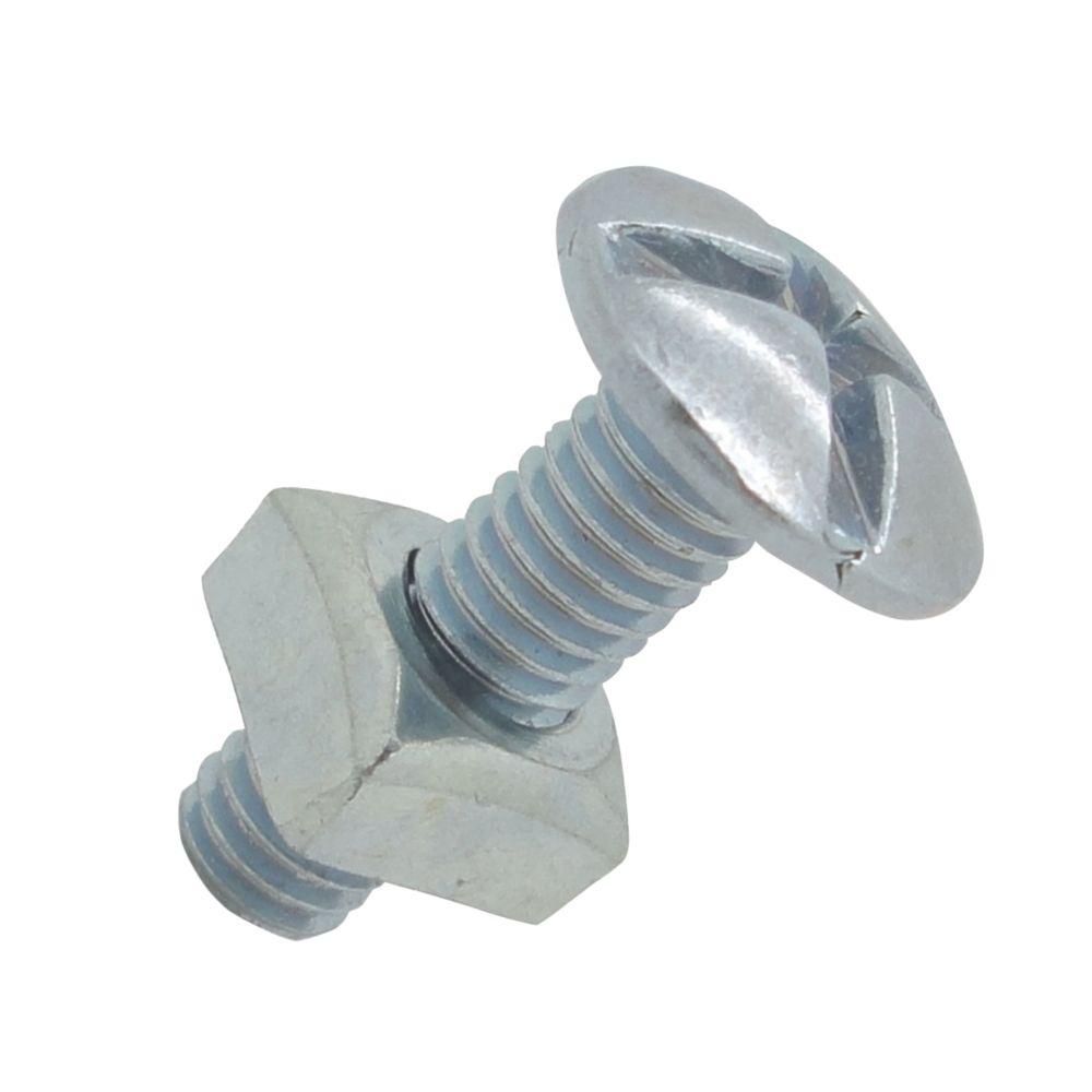 10boulons de charpente zingués brillants Easyfix M5 x20mm