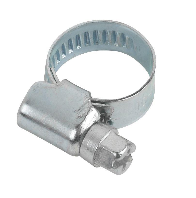 10colliers de serrage zingués bleus Easyfix 10-16mm