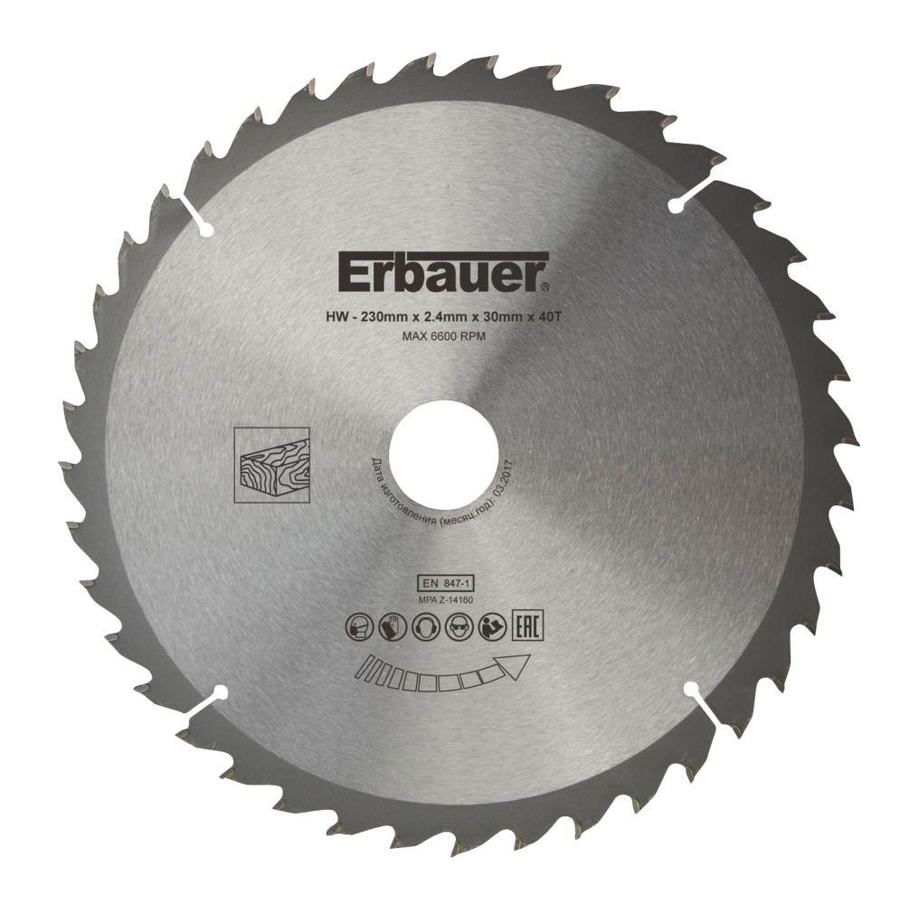Lame de scie TCT 40dents Erbauer 230 x 30mm