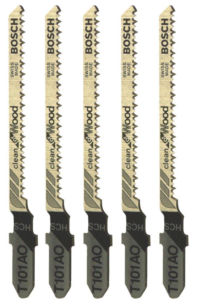 Lot de 5lames de scie sauteuse à bois Bosch T101AO 56mm