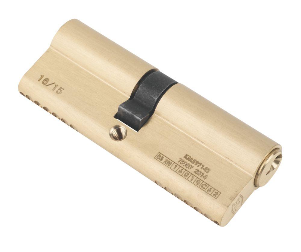 Serrure à double cylindre européen à 6points Smith & Locke 1* 40-45 (85mm), laiton poli